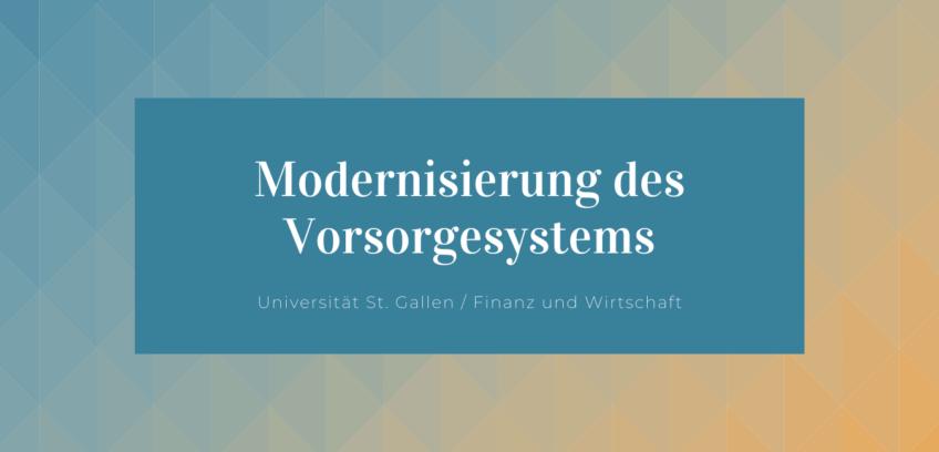 Modernisierung des Vorgesystems